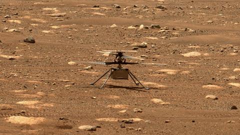 На Марсе взлетел первый вертолёт