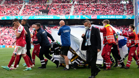 Матч Бельгии и Дании будет приостановлен в знак поддержки Эриксена