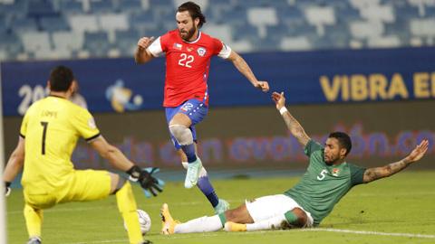 Гол Бреретона принес победу Чили в матче Кубка Америки с Боливией