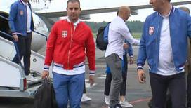 В Калининграде встретили футбольную сборную Сербии