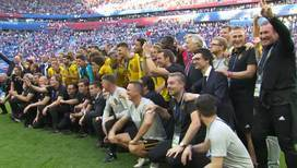 Церемония награждения сборной Бельгии