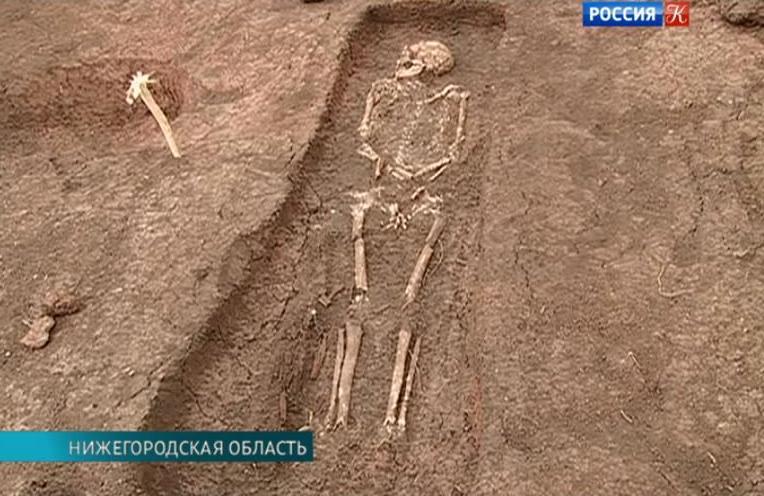 В нижегородской области продолжаются раскопки на старосельск.