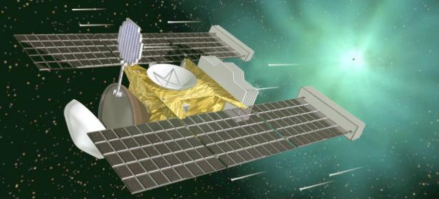 Космический аппарат Stardust ловил межзвёздные частицы, которые двигались со скоростью 15-18 тысяч километров в час
