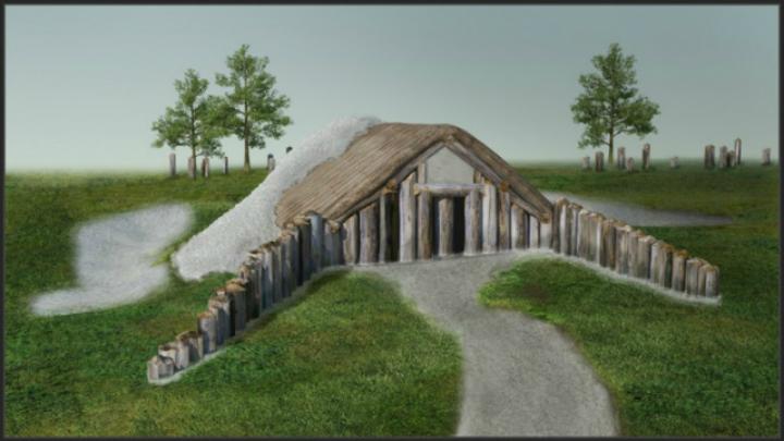 Большое каменное здание, использовавшееся в ритуалах захоронения мёртвых