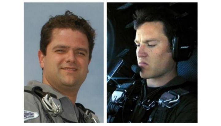 Пилоты корабля SpaceShipTwo: Питер Сиболд (слева, выжил) и Майкл Элсбери (справа, погиб)