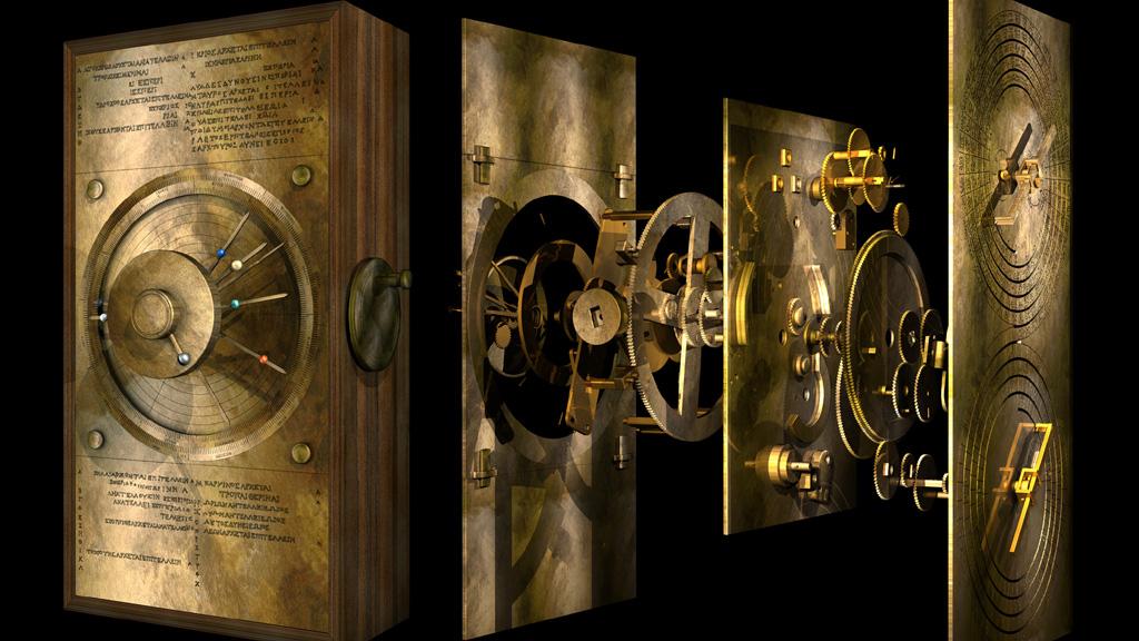 Компьютерная модель Антикитерского механизма, реконструкция 2013 года. Источник: Tony Freeth, Images First Ltd.