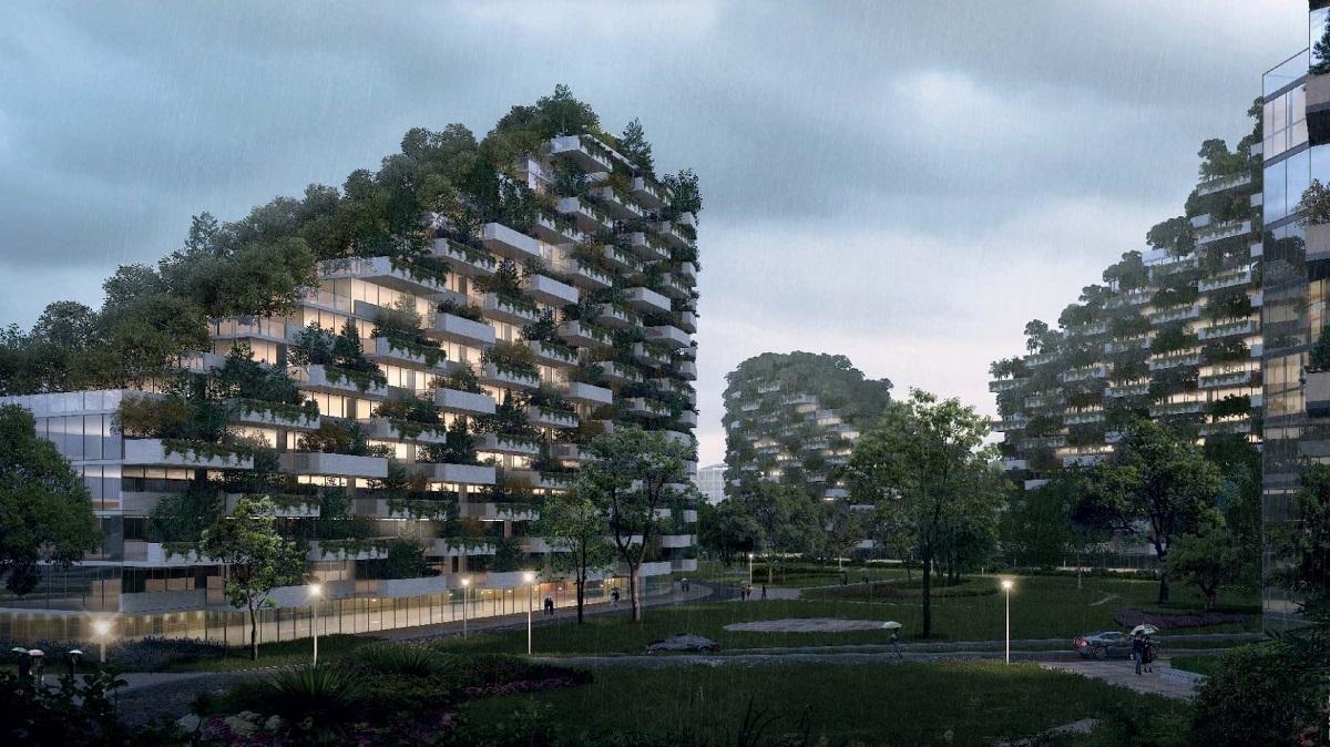 """В основе концепции """"зелёных"""" домов лежит экологичность: деревья обеспечивают циркуляцию чистого воздуха внутри домов."""