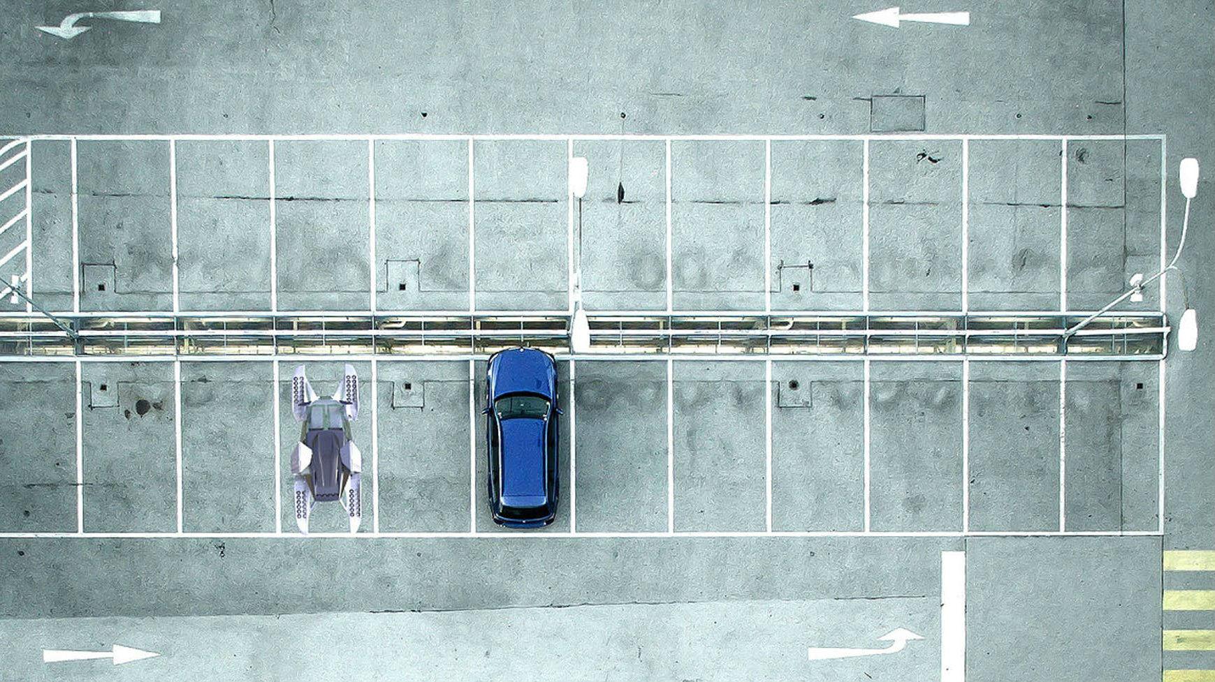 Аэротакси сможет уместиться, например, на одно парковочное место.
