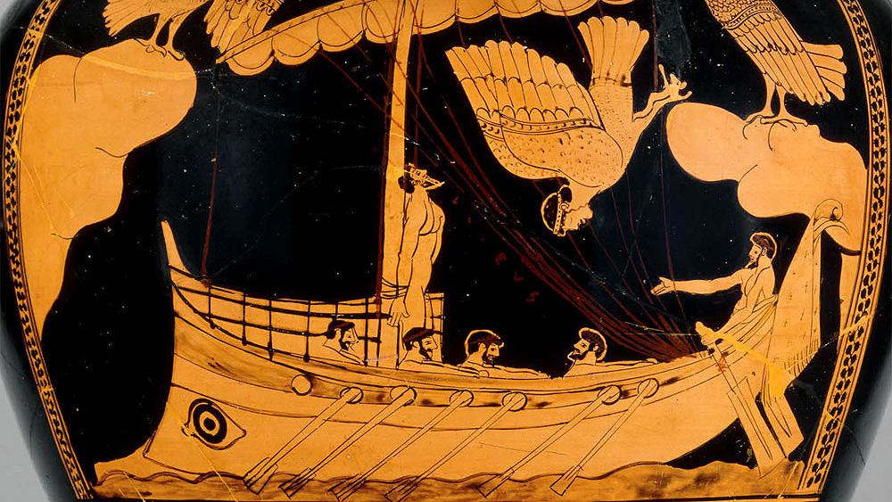 Аттический стамнос ╚Одиссей у острова сирен╩ (480-470 год до н.э.), фрагмент. Фото: The British Museum