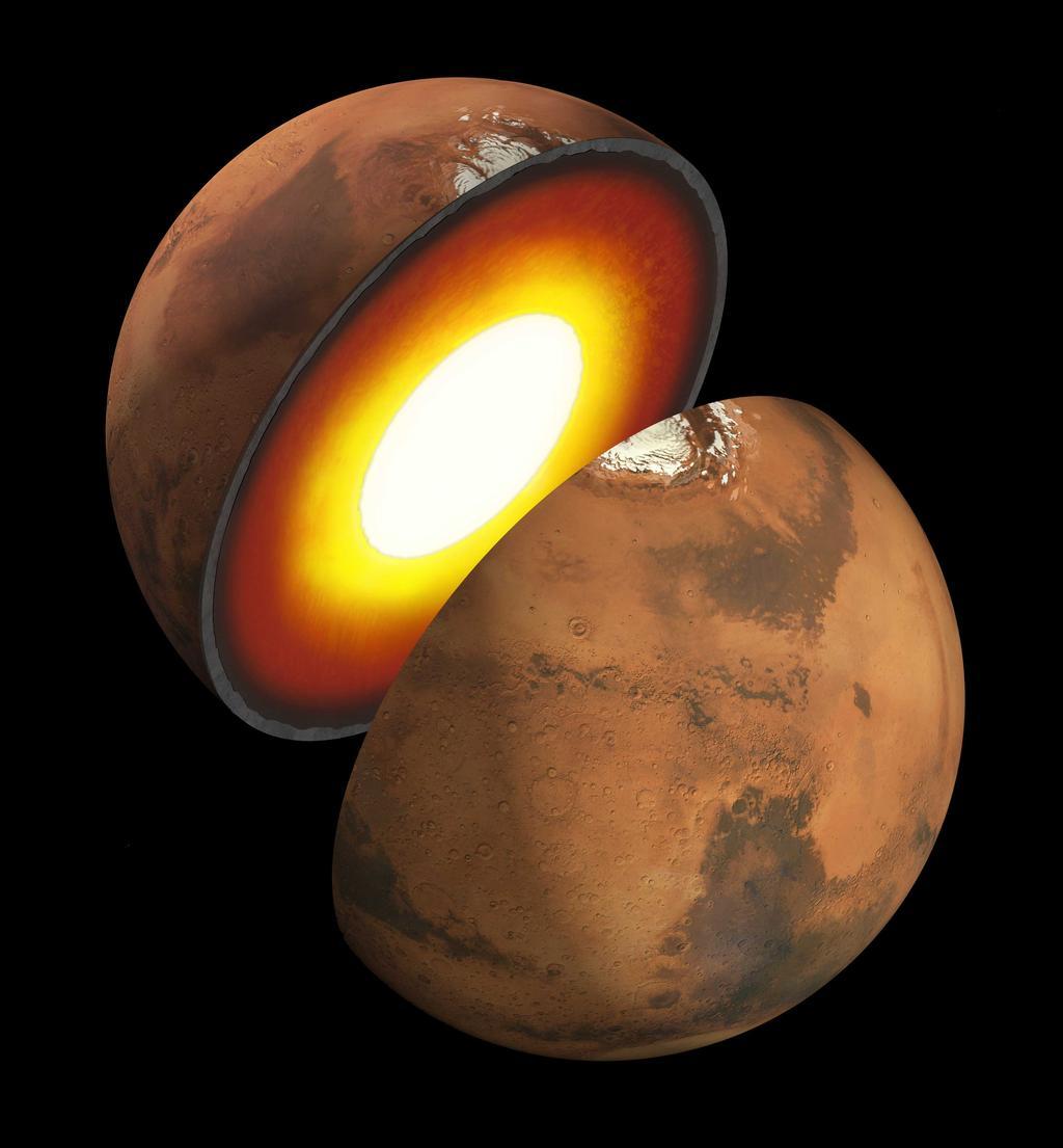 Внутреннее строение Марса во многом остаётся неизвестным.