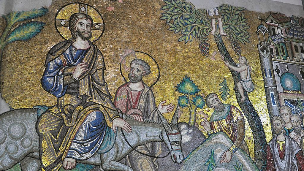 Мозаика «Вход Господень в Иерусалим». Фото: LPJ / Saher Kawas