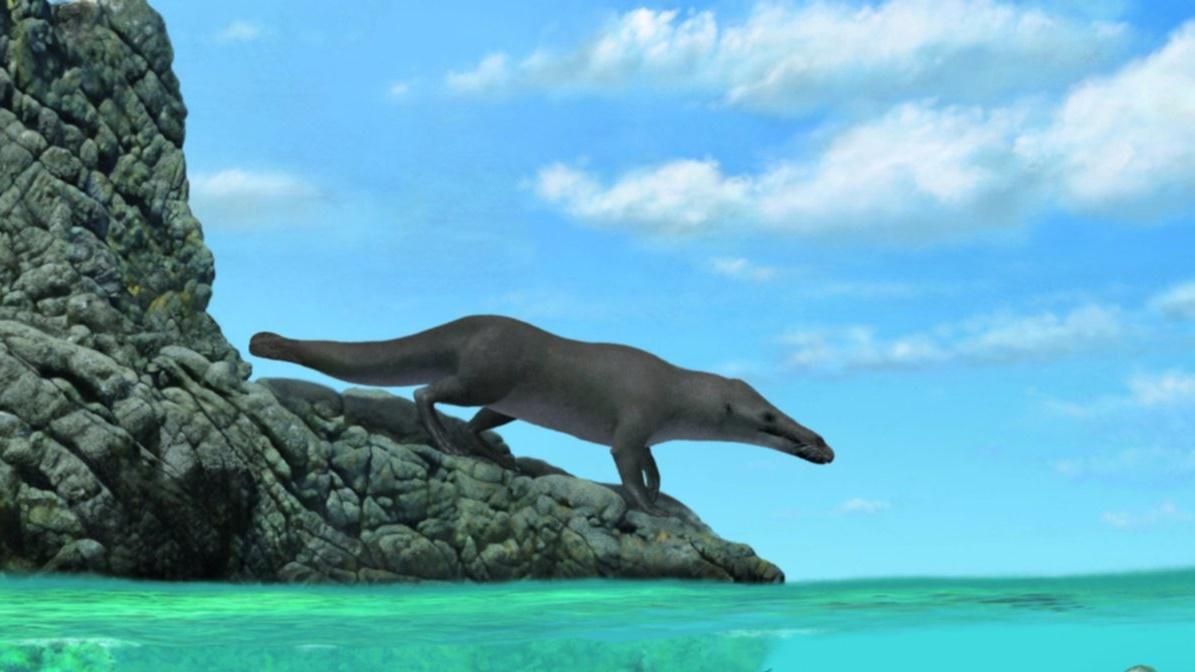 Длина тела животного, включая хвост, доходила до четырёх метров.