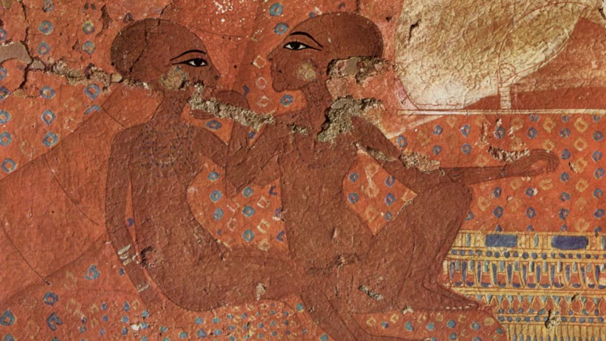 Нефернефрура (слева) и её старшая сестра Нефернефруатон-ташерит. Иллюстрация египетского художника, около 1360 до нашей эры.