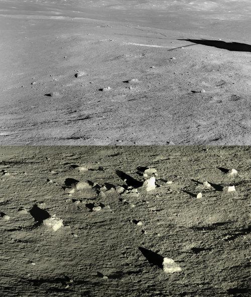 Ровер получил спектр лунного грунта в месте высадки, чтобы учёные могли определить его состав.