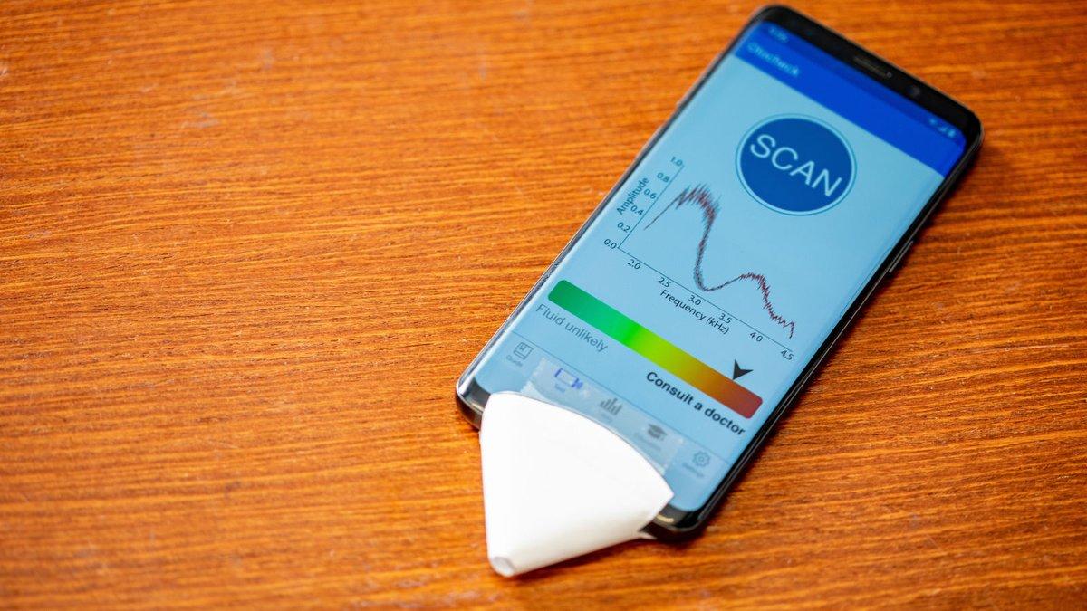 Для проведения теста требуется воронка из любой бумаги и смартфон, на который установлено приложение EarHealth.
