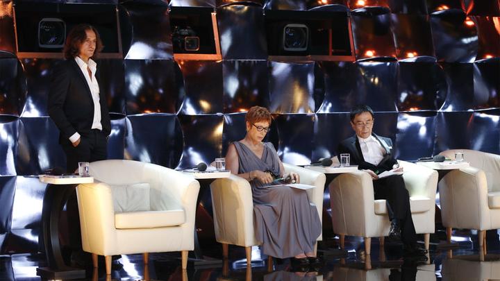 Члены жюри первого выпуска программы: Фарух Рузиматов, Брижит Лефевр; Сяо Сухуа. Фото Вадима Шульца