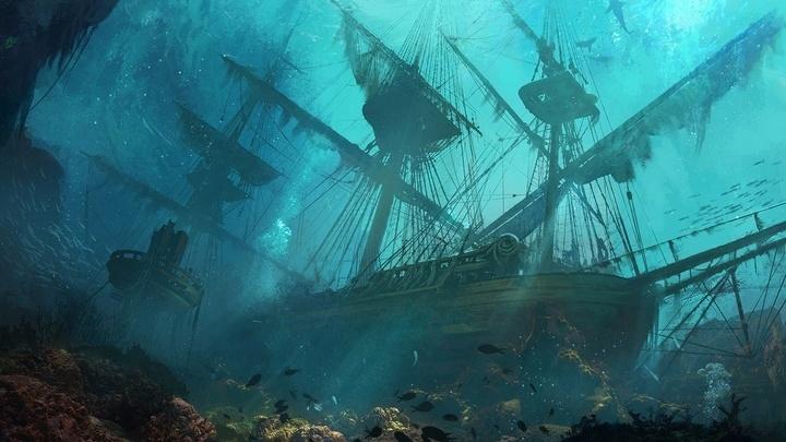 Затонувший фрегат