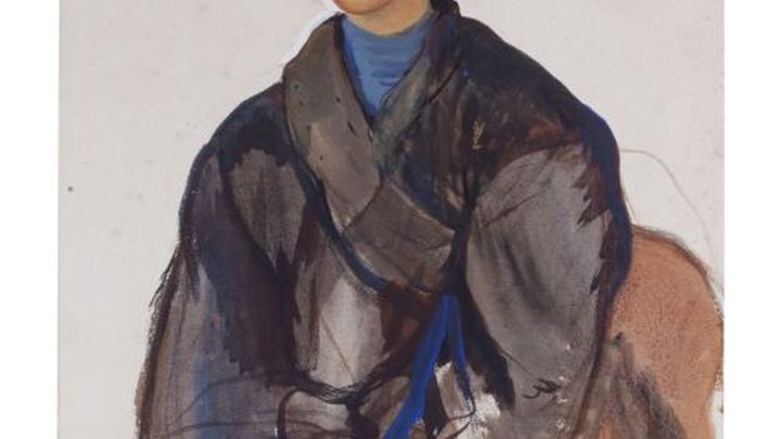 З. Серебрякова. Степа. Портрет мальчика. 1910. Бум. верже, темпера, белила