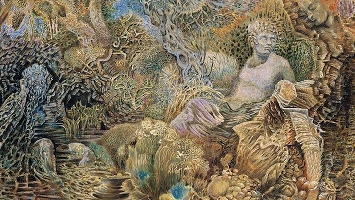 Никос Хатзикириакос-Гикас. Гении места (1970). Холст, масло. Национальная художественная галерея — музей Александроса Суцоса