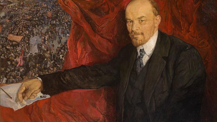"""Исаак Бродский. """"Ленин и манифестация"""". 1919"""