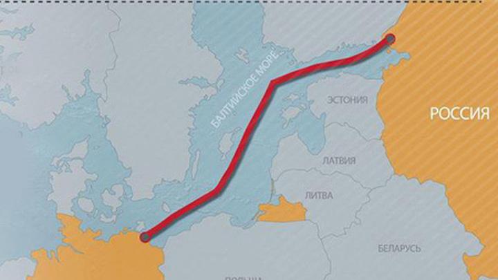 """""""Северный поток - 2"""" (схема)."""