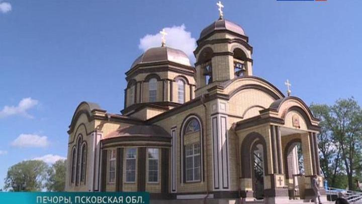 В Псковской области продолжается строительство храма святых Кирилла и Мефодия