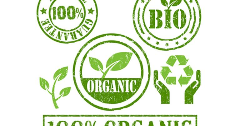 """Надписи на продуктах """"органика"""", """"экологически чистый"""", """"фермерский""""."""