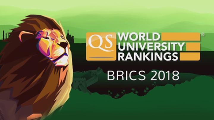 """""""Рейтинг лучших университетов мира: БРИКС"""" 2018 года по версии британской компании QS."""