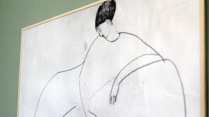И рисунок Модильяни тоже тут.