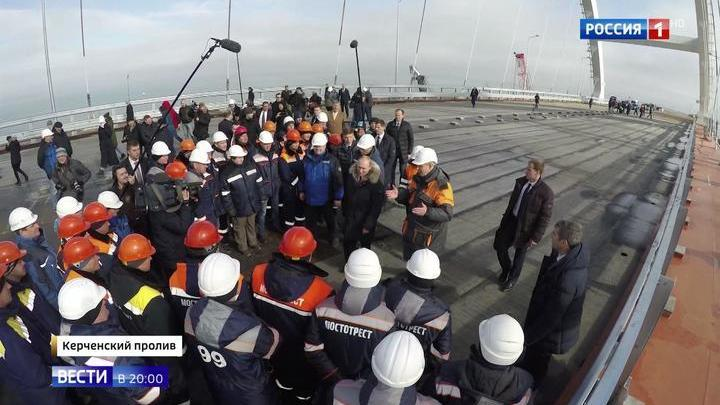 Crimean Bridge Nears Completion AHEAD of Schedule - It Will be Open for Summer