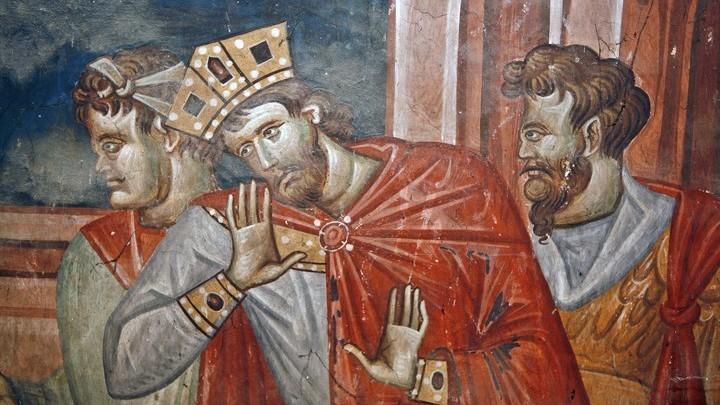 Император Диоклетиан (фрагмент фрески)