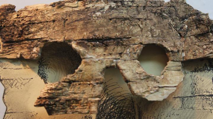 Шилово, музей. Древняя маска из пластов Рязано-Окской культуры, V-VI вв.н.э.