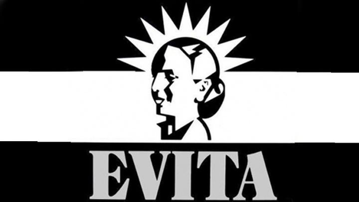 """Постер к мюзиклу """"Эвита"""" (""""Evita"""")."""