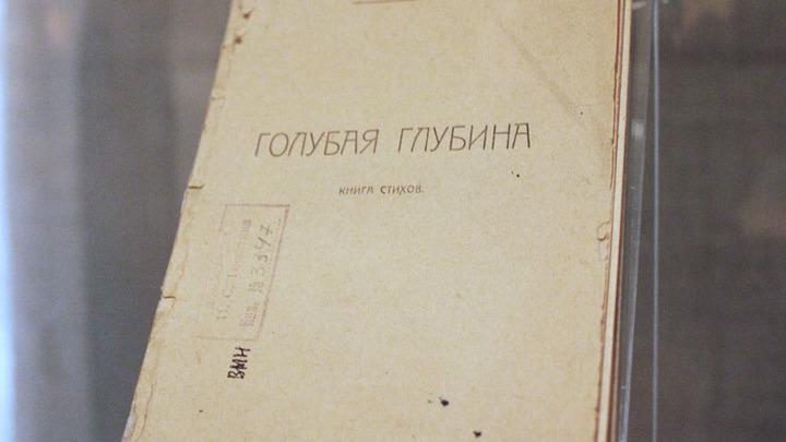 Первая книга стихов А.Платонова «Голубая глубина», Краснодар, теперь тоже музейный экспонат.