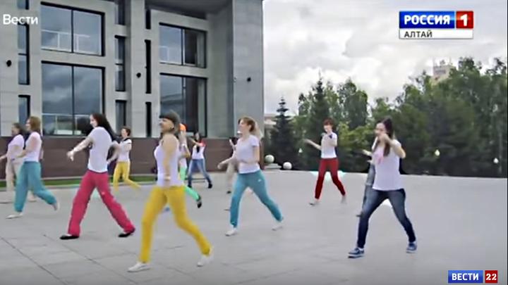 Рекорд по массовой городской тренировке в Барнауле