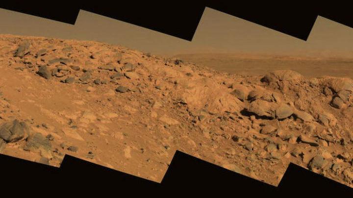 """Колумбийские холмы √ возможная посадочная площадка для будущего ровера НАСА. Ранее эту область исследовал марсоход """"Спирит""""."""