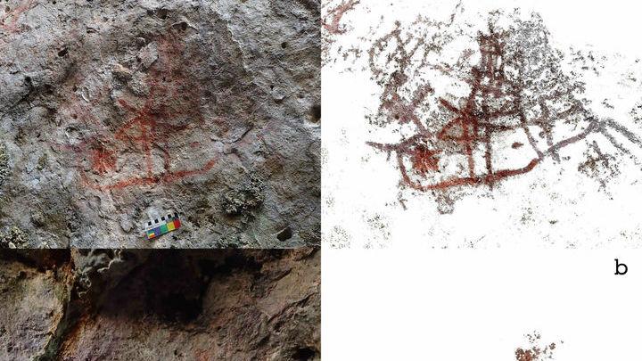 Как и другие рисунки, обнаруженные в данном регионе, сюжеты острова Кисар очень динамичны.