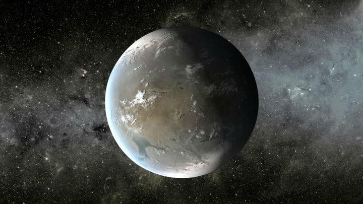 Художественное изображение планеты Kepler-62f.