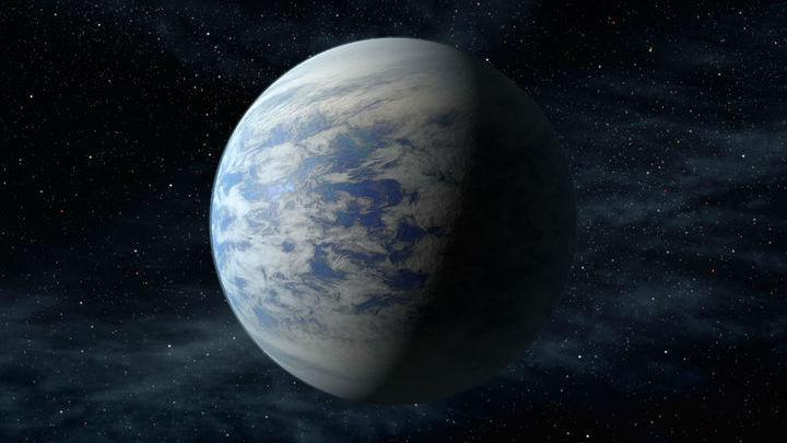 Вода может составлять до половины массы планеты, являющейся, согласно расчётам астрономов, водным миром.