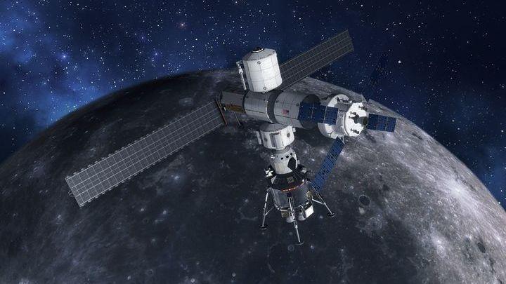 Платформа Gateway будет обращаться по лунной орбите и обслуживаться космическим кораблём Orion.