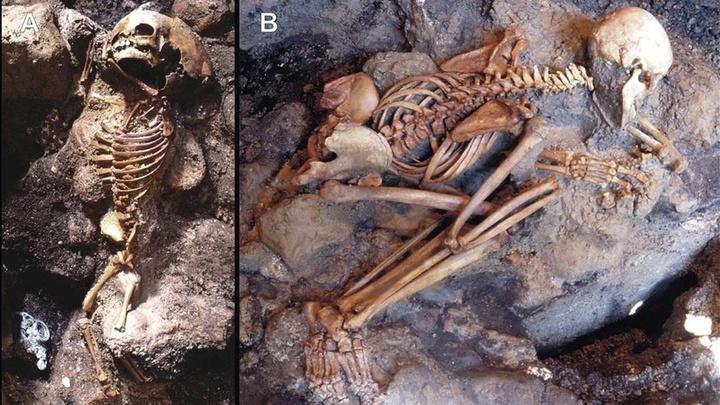 Останки жителей Геркуланума, погибших в ходе извержения Везувия.
