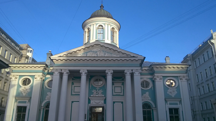 Санкт-Петербург, ноябрь 2018 года. Армянская церковь, где в день похорон, 9(22) ноября 1910 года поминали Льва Толстого…