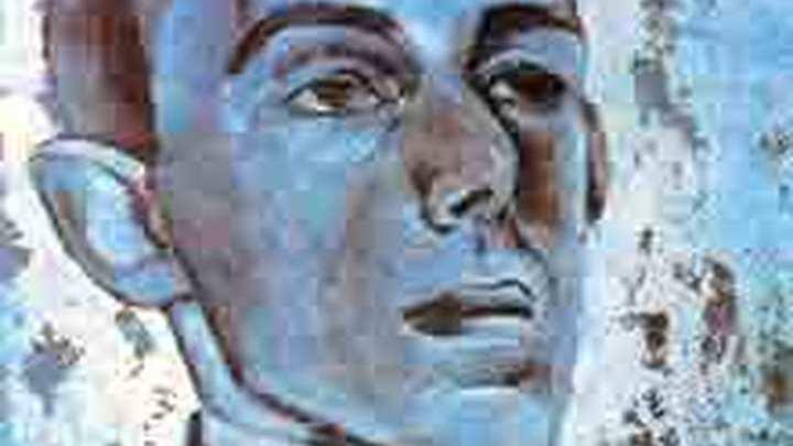 Слайд с портрета русского поэта О.Э. Мандельштама, выполненного художником Л. А. Бруни в 1915-1916 гг