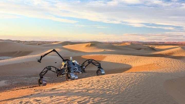 Главным объектом испытаний стал марсоход SherpaTT.