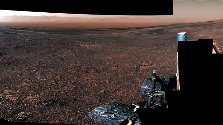 Панорама Марса, снятая ровером 19 декабря 2018 года.