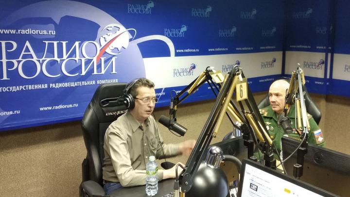 """Галим Вергасов и полковник Александр Маратович Украинец в студии """"Радио России"""""""