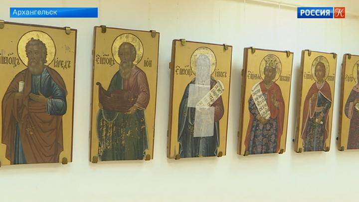 Спасенные из рук грабителей иконы представлены на выставке в Архангельске