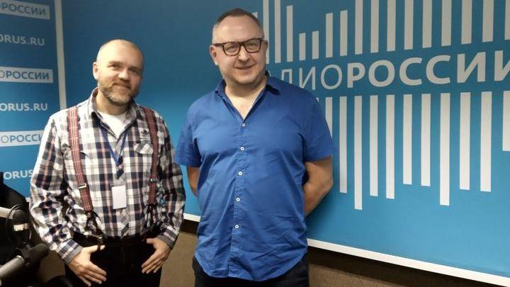 Дмитрий Конаныхин с экспертом по космонавтике Алексеем Вячеславовичем Широниным
