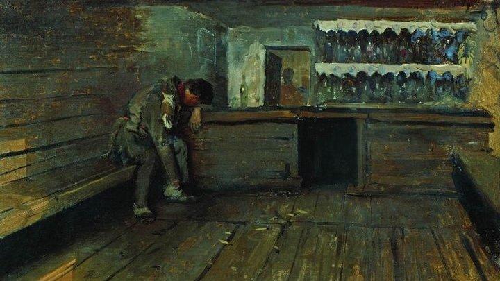 """Рябушкин, А.П. """"Кабак"""". 1891. Третьяковская галерея"""