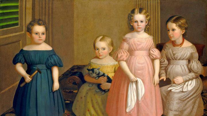 "Оливер Тарбелл Эдди ""Alling Дети"". Метрополитен-музей, Нью-Йорк"